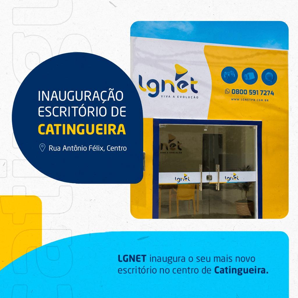 LGNET inaugura escritório no centro de Catingueira